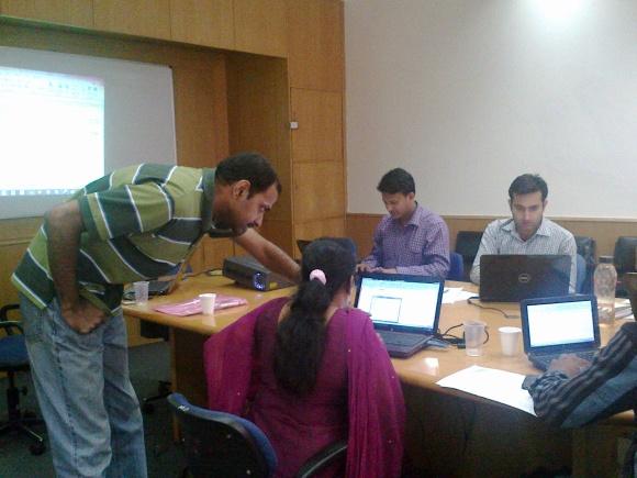 Ramesh taking a GYAN Session on Excel Skills