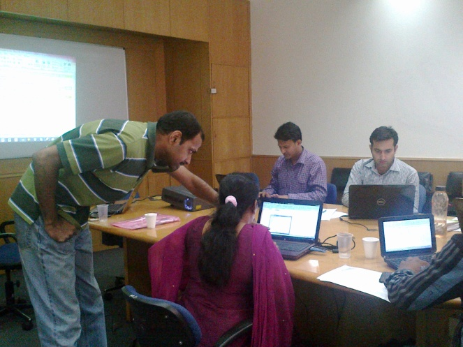 Ramesh taking a GYAN Session on Excel Skills