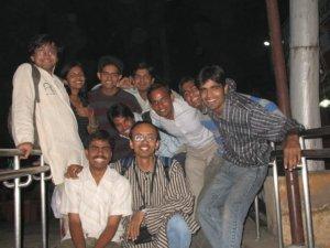 Selva with AID Delhi Volunteers
