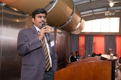 Selva shares his journey at the Corportae Service Council Dinner