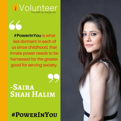 Saira Shah Halim- #PowerInYou
